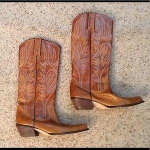 Steve Madden LONESTAR Leather Cowboy Western Boots
